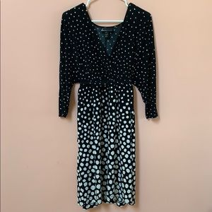 Lane Bryant 3/4 sleeve black and white dress